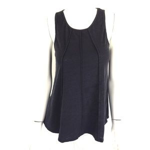 Anthropologie Bordeaux Tank Top Medium Blue
